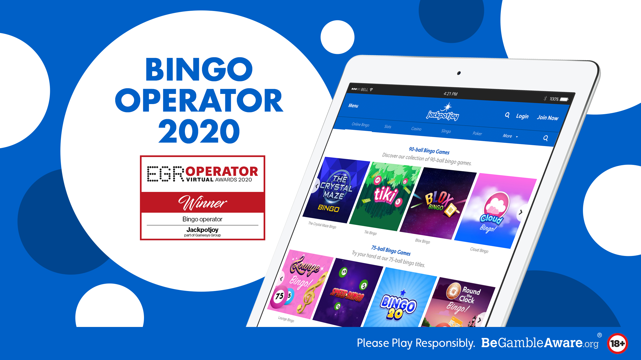 As Bingo Operator of the Year, we have lots of exciting online bingo games for you to enjoy.